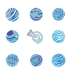 Blue Abstract Logos vector image vector image