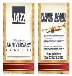 flyer for jazz festival vector image vector image