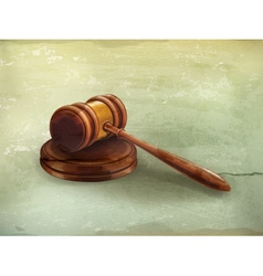 Gavel old-style vector image vector image