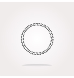 glossy web buttons with abstract circles vector image