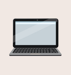modern open laptop with blank screen isolated on vector image