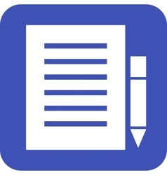 Notes and Pencil vector image vector image