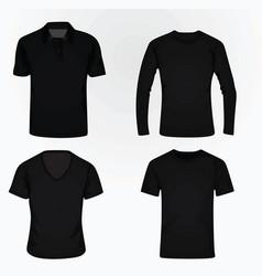 t shirt set vector image
