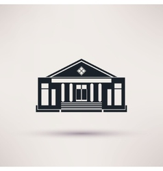 Theatre The building is an icon flat vector image