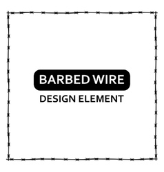 Black barbed wire frame vector