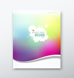 Cover annual report abstract watercolor design vector image