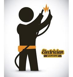 electrician design vector image