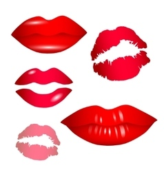 Female lips collection - vector image vector image