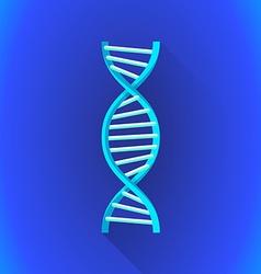 flat DNA helix symbol icon vector image