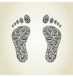 Foot a lip vector image vector image