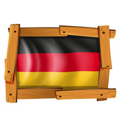 icon design for germany flag vector image vector image