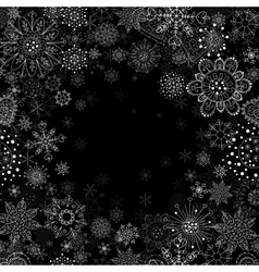 invitation card with snowflake vector image vector image