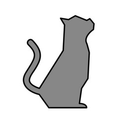 pet cat silhouette icon vector image