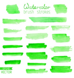 Set of hand-painted brush strokes vector image vector image
