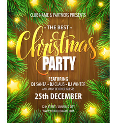 Christmas Party poster design template vector image vector image