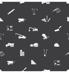 construction icons seamless pattern eps10 vector image