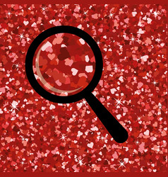seamless bright red glitter texture shimmer vector image vector image
