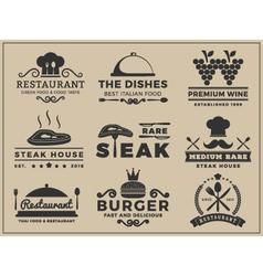 Set of logo and insignia design for restaurant vector