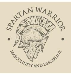 Symbol Spartan Greek warrior vector image vector image