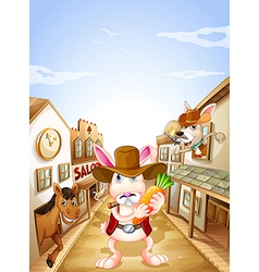 Animals in the neighborhood vector image