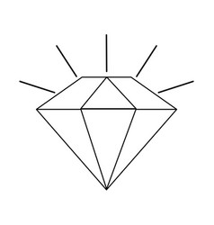 diamond cartoon icon image vector image
