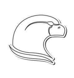 Eagle emblem icon vector