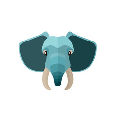 elephant head icon in flat design vector image