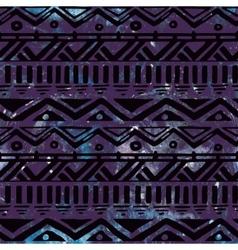 Hand drawn black aztec tribal seamless background vector