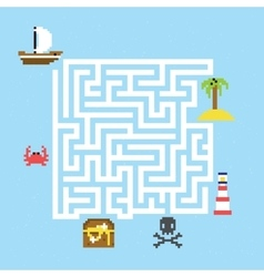 Pirate treasure maze vector image vector image