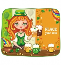 st paddy girl vector image