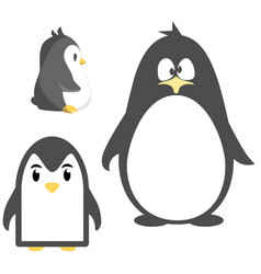 abstract cute angry cartoon pinguin isolated on a vector image