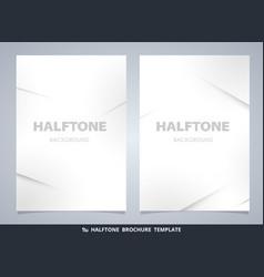 abstract modern halftone brochure mockup in gray vector image