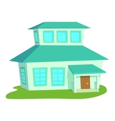Big house icon cartoon style vector image