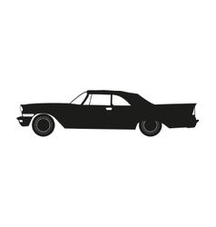 black silhouette a retro car vector image