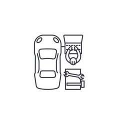 car diagnostics line icon sign vector image