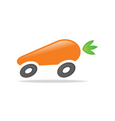 carrot car vector image