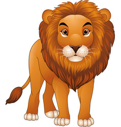 Cartoon lion mascot isolated on white background vector