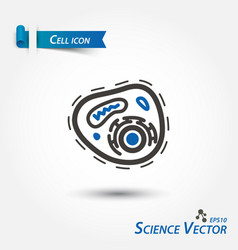 cell icon bacteria scientific vector image
