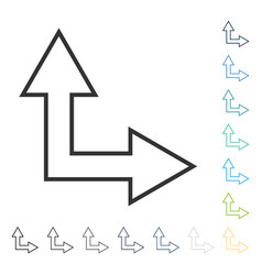 Choice arrow right up icon vector