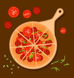 colorful italian pizza concept vector image