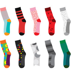 Colorful socks vector
