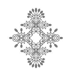 Decorative Line Art Frame Totem vector