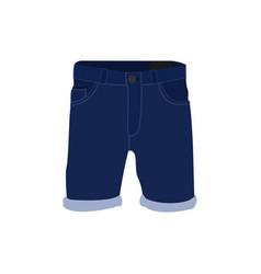 denim short pants fashion style item vector image