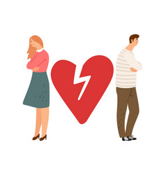 Divorce concept ex couple characters vector