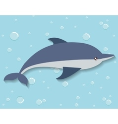 dolphin icon Sea animal cartoon graphic vector image