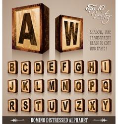 Domino alphabet vector