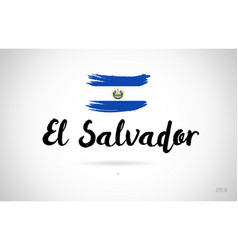 el salvador country flag concept with grunge vector image