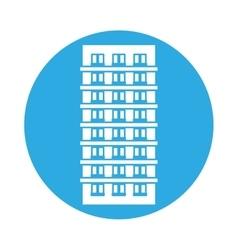 emblem apartment building line sticker vector image