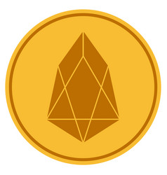 Eos currency gold coin vector