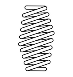 Fat spring coil icon outline style vector